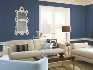 Contoh Warna Cat Interior Biru