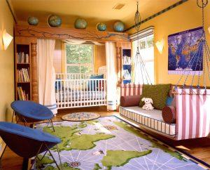 Desain Interior Kamar Tidur Anak Minimalis Cerah